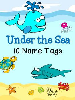 Under the Sea - Name Tags