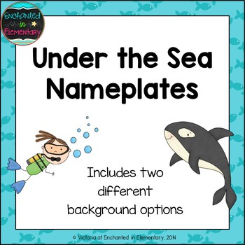 Under the Sea Nameplates