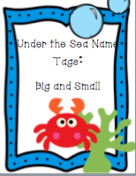Under the Sea/Ocean Nametags: Big and Small