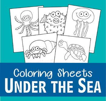 Under the Sea Ocean Fish Coloring Sheets