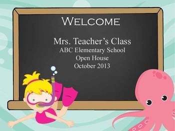 Under the Sea Ocean - PowerPoint, Open House, Curriculum N
