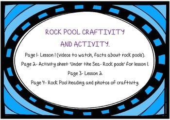*Under the Sea* Rock Pool Craftivity and Acivitity