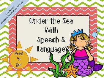 Under the Sea Speech & Language Activities