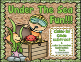 Under the Sea Subtraction Facts Color by Code (Color by Number)