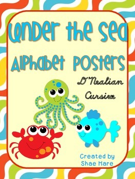 Under the Sea Themed Alphabet Posters {crab octopus} CURSI