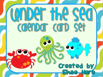 Under the Sea Themed Calendar Cards {fish crab} {Morning M