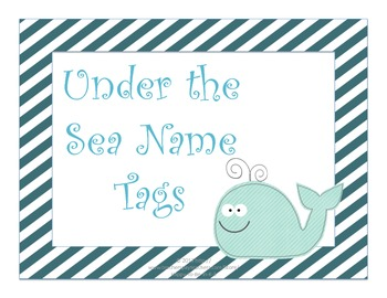 Under the Sea Nautical Name Tags - Ocean Theme
