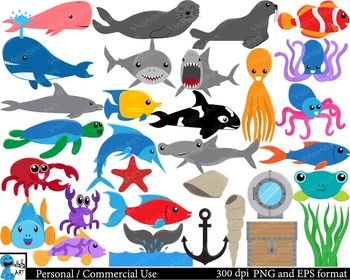 Under the sea Digital Clip Art Personal Commercial Use 62