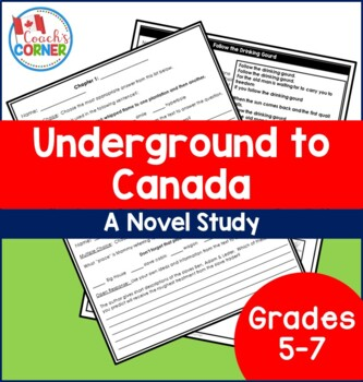 Underground to Canada Literature Unit