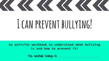 Understanding Bullying {A Workbook for Preventing Bullying}