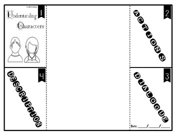 Understanding Characters Foldable