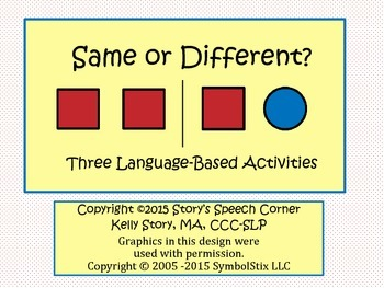 Understanding Concepts: Same and Different