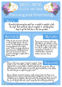 Understanding Executive Functioning: Planning and Prioritizing