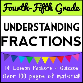 Understanding Fraction Concepts Bundle: 11 Lesson Packets