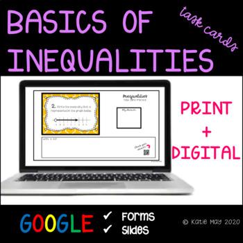Understanding Inequalities Task Cards and Poster Set *7.EE