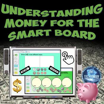 Understanding Money for the SMART Board w/ Homework {Commo