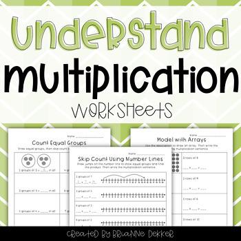 Understand Multiplication Worksheets - Third Grade GoMath!