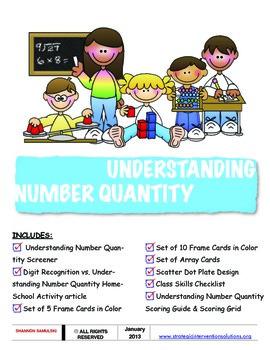 Understanding Number Quantity Screener DOWNLOAD