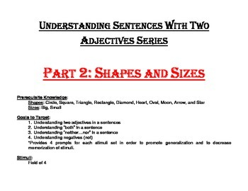 Understanding Sentences with Two Adjectives Series Part 2: