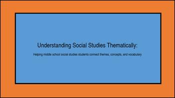 Understanding Social Studies Thematically: