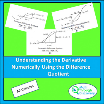 Understanding The Derivative Numerically  Using the Differ