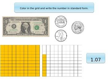 Understanding decimals (standard, money, place value, numb
