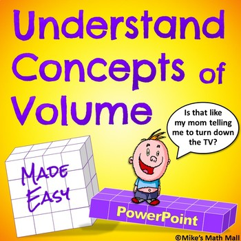 Understand Concepts of Volume (PowerPoint Only) - Complete