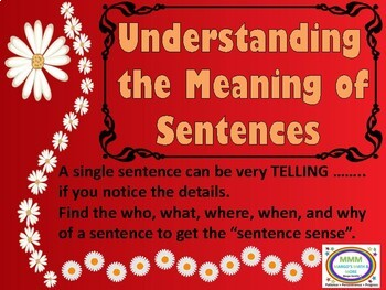Understanding the Meaning of Sentences