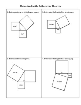 Understanding the Pythagorean Theorem Worksheet