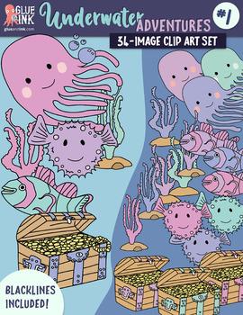 Underwater Adventure #1 Clip Art –Commercial Use