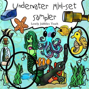 Underwater Clip art (Sampler)