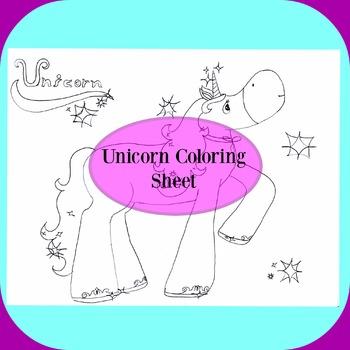 Unicorn Coloring Sheet