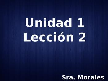 Unidad 1 Leccion 2 Vocabulary - Avancemos 1
