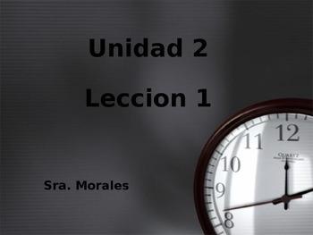 Unidad 2 Leccion 1 Vocabulary-Avancemos 1