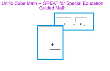 Unifix Cube Addition - Great for Special Education (autism)