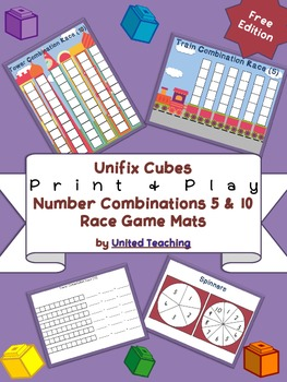 Unifix Cubes Print & Play Number Combinations 5 & 10 Race