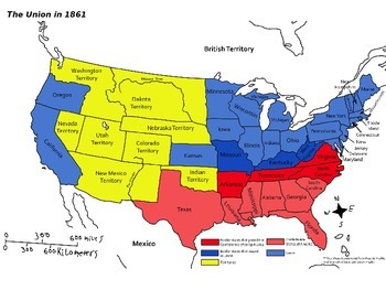 Union and Confederacy - Map Labeling Activity