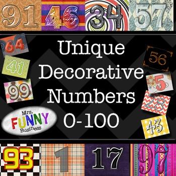 Unique Decorated Numbers 0-100