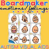 Unisex Emotion / Feelings Cards - Boardmaker Visual Aids f