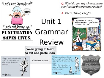 Unit 1, 4th Grade Scott Foresman Grammar Review Book