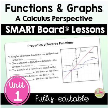 PreCalculus: Functions and Graphs SMARTBOARD Lessons Bundle