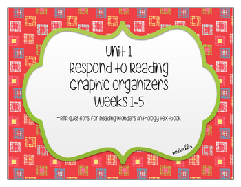 Unit 1 Reading Wonders Respond to Reading Graphic Organizer