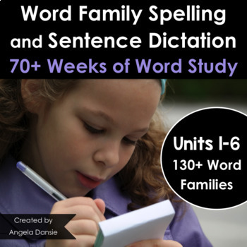 Word Family Spelling, Writing, and Grammar Bundle