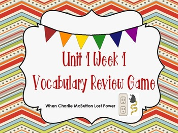 Unit 1 Week 1 Vocabulary Review Game