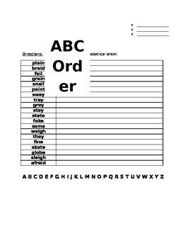 Unit 1 Week 4 ABC Order