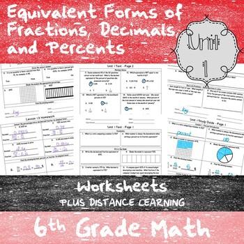 Equivalency & Percents Worksheets - (6th Grade Math TEKS 6