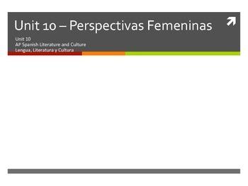Unit 10 - Las Perspectivas Femeninas - AP Spanish Literatu
