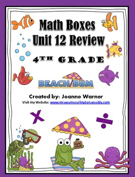 Unit 12: Rates ~ Everyday Math Review