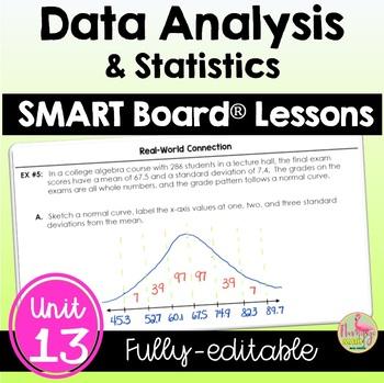 Data Analysis and Statistics SMARTBOARD Lessons Bundle