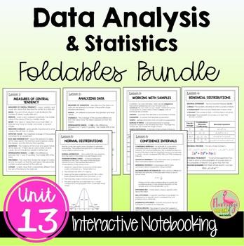 Data Analysis and Statistics FOLDABLES Bundle